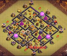 OMG These anti dragon base designs are really cool because of which dragons stopped flying after seeing this town hall 8 base layouts and killed themselves. Clash Of Clans Levels, Clash Of Clans Game, Trophy Base, Dragon Base, Nintendo Ds Pokemon, Video Game Memes, Pokemon Fusion, Pokemon Cards, Layout Design