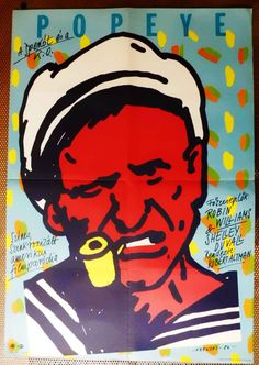 Popeye (1980)  Director: Robert Altman  Hungarian vintage movie poster.  Artist:by Árendás József