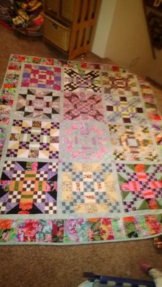 This quilt was from a fun block exchange our quilt group did.