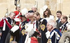 Kate Middleton Photos - Queen Elizabeth II and Members Of The Royal Family Attend The Order Of The Garter Service - Zimbio