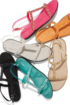 ac2e783717699 Add some shine to your every day look with our Good Chlue Gemstone sandals!  Flat