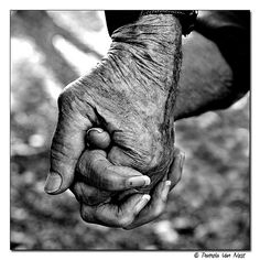 hands, I always look at hands, they tell the story