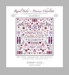 ROYAL BABY PRINCESS CHARLOTTE SAMPLER Counted Cross Stitch Kit Riverdrift House http://www.amazon.co.uk/dp/B00XAHW9PO/ref=cm_sw_r_pi_dp_p88Bvb08SJ4R9
