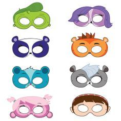 Littlest Pet Shop Inspired Printable Masks