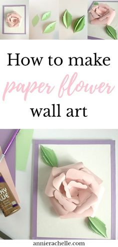 Want to make a DIY paper flower craft? Then click through for instructions and a free shapes template! #paperflowers #wallart #decoration #howtomakepaperflowers