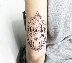 Tattoo Life, Rebellen Tattoo, Home Tattoo, Bike Tattoos, Sleeve Tattoos, Dirt Bike Tattoo, Forrest Tattoo, Motocross Tattoo, Natur Tattoos