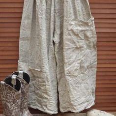 508f2c4c66 Homespun Linen Fisherman Pants RitaNoTiara Southern Gothic Couture