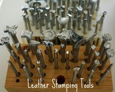 leather tools are used to create wallets, purses, dog collars and functional leather work.