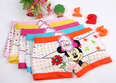 2016 5pcs/lot Minnie Mouse Anna Elsa  cartoon children boxer underwear girl cotton pants for kids boys underpants