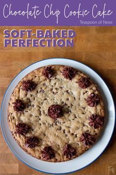 Classic Chocolate Chip Cookie Cake | Teaspoon of Nose