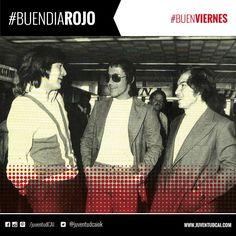 #BuenDiaRojo! #BuenViernes! Carlos Gay, Bertoni y Bochini previo a las finales de la Copa Libertadores. Año 1974.
