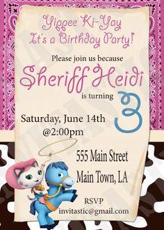 Sheriff Callie Birthday Invitation  Disney by InvitasticInvites, $10.00