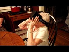 #VIRTUALREALITY -- My 90 year old #grandmother tries the #Oculus Rift.