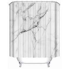 Uphome Wild Symbol Marble Pattern Bathroom Shower Curtain White and Grey Polyester Fabric Bath Decorative Curtain Ideas x >>> You can find out more details at the link of the image. Brick Bathroom, Bathroom Shower Curtains, Dorm Bathroom, Striped Shower Curtains, Fabric Shower Curtains, Curtain Patterns, Curtain Ideas, Bathtub Decor, Marble Showers