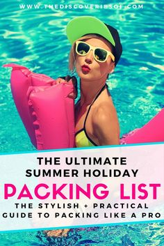 The ultimate packing list for your summer vacation. Everything you need to pack for your beach holiday. Heading to Bali, Thailand, Spain or anywhere sunny and warm? This holiday packing list will have you packing like a pro. Read more.