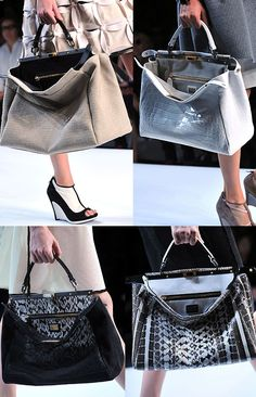 Fendi exortic Peek-A-Boo Bag spring 2009 runway Fendi Peekaboo Bag, Womens Designer Bags, Designer Handbags, Fendi Bags, Shopper, Business Fashion, Fashion Handbags, Fashion Accessories, Stylish