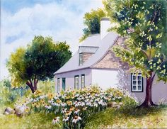 Take Me Home, House Painting, Les Oeuvres, Paths, Cottage, Exterior, Watercolor, House Styles, Pictures