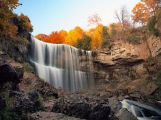 One of the many waterfalls in Hamilton, Ontario, Canada. Photo by paul (dex) Landscape Photography Tips, Autumn Photography, Landscape Photographers, Amazing Photography, Digital Photography, Waterfalls Photography, Photography Ideas, Photography School, Photography Accessories
