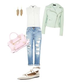 """""""Pastillll"""" by haifastylist ❤ liked on Polyvore featuring Armani Jeans, Genetic Denim, Karen Millen, Balenciaga and Valentino"""
