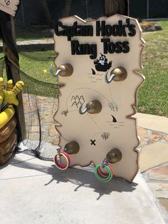 The party activities at this pirate birthday party are fantastic! See more party ideas and share yours at CatchMyParty.com #piratepartyactivity #catchmyparty #partyideas #pirate #pirateparty #pirateship #boybirthdayparty #captainhook