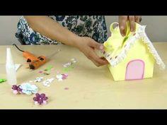 TUTORIAL: Casita decorativa Foamy Eventos Bautizo Baby Shower Primera comunión - YouTube Christmas Deco, Ideas Para, Crochet, Baby Shower, Mayo, Birds, Paper Engineering, Diy And Crafts, Kids Part