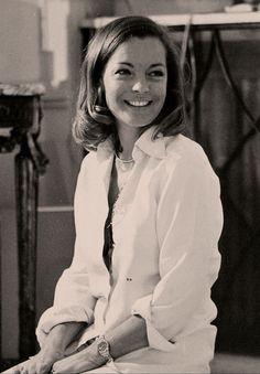 Romy Schneider smiling