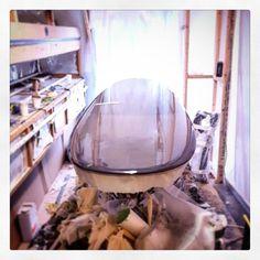 Custom Slipper nearly done! #visionary #custommade #slipper #surfboard #surfboards #resintint #madetoorder http://ift.tt/19MEsb6
