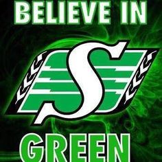 Believe in Green the Saskatchewan Roughriders Go Rider, Bar Pics, Saskatchewan Roughriders, Canadian Football League, Rough Riders, Mosaic Projects, Green Colors, Monster Trucks, Canada Eh