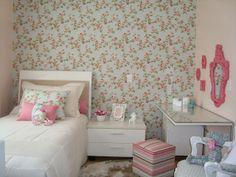 Decoração, quarto mulher, decoração quarto, papel parede
