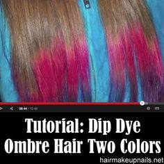 Dip Dye Ombre Hair Two Colors. I would love this but it probably wouldn't happen. Hair Color 2018, Latest Hair Color, Hair 2018, Fall Hair Colors, Cool Hair Color, Dip Dye Hair, Dyed Hair, Great Hair, Awesome Hair