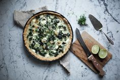 _our food stories_: glutenfree kale quiche with mushrooms & coconut milk