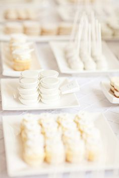a scrumptious all white sweets table by http://www.yum-dessertdecor.com/  Photography by http://lucida-photography.com, Wedding Decor by http://milestoneevents.ca