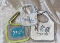 New 3 Baby Dribble Bibs One size fit all Circo & Sandy & Simon & Carter's Unisex #CircoandSandySimonCarters