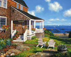 An ideal setting on the coast of Maine or perhaps the Cape. Item 244 $15.95