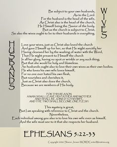 Ephesians 5:22-33 print out for 8x10, 16x20, 11x14.