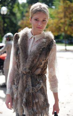 Love fur vests (faux fur of course!)