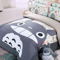 Totoro Bedding Set - $73 ⋆ Fandom Dorm Room Ideas!