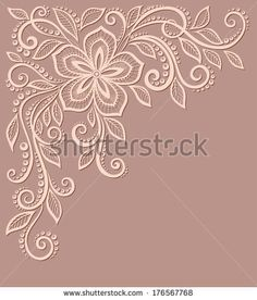 beautiful floral pattern, a design element in the old style. Floral Embroidery Patterns, Embroidery Tools, Vintage Embroidery, Beading Patterns, Hand Embroidery Patterns, Embroidery Designs, Embroidery Stitches, Lace Flowers, Embroidered Flowers
