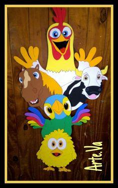 Resultado de imagen para personajes de canciones dela granja en porcelana fria Farm Animal Party, Farm Animal Crafts, Animal Crafts For Kids, Farm Animals, Holiday Club, Barn Parties, Jamel, Kids Party Themes, Farm Birthday