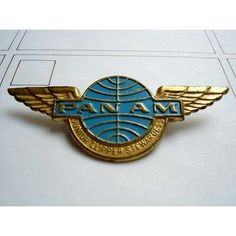 Pan Am wings.  Flew PanAm on our honeymoon.  I think it folded soon after that.