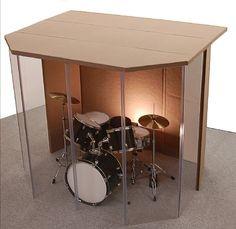 "Drum Booth - Drum Enclosure - Drum Shield ""Silencer"" Studio 6 Black with Door Drums Studio, Music Studio Room, Music Rooms, Drum Cage, Home Studio Musik, Rehearsal Room, Drum Room, Church Stage Design, Recording Studio Design"