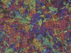 Complex City Grids Visualized With Day-Glo Maps | Berlin is built around it central district and the Spree River. You can see a few main arteries running through the city.  Steve Von Worley  | WIRED.com