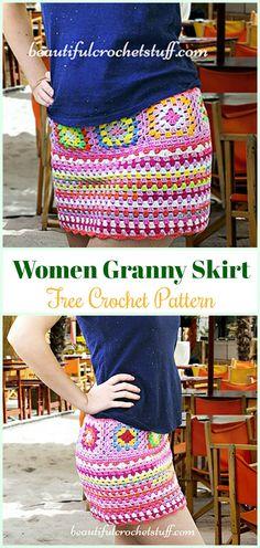 Crochet Granny Skirt Free Pattern - Crochet Women Skirt Free Patterns