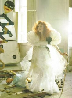 karen elson / 'soldier, soldier, won't you marry me?' / by tim walker / christian lacroix HC SS 08/ vogue UK april 08