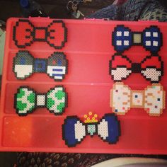 Bows perler beads by wildcard_whimsys