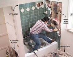 Next project...replace the tub with a whirlpool. Step by step instructions.