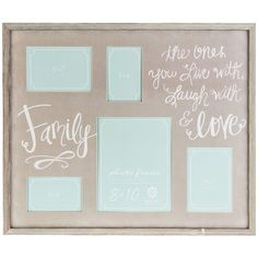 Gray & White Family Collage Frame $30