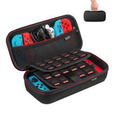 Carry Case Compatible with Nintendo Switch, Keten Protective Hard Portable Travel Case Pouch Shell with 19 Games Cartridge Holders Compatible with Console, Games, Joy-Con and Other Accessories, Black Izuku Midoriya Cosplay, Video Game Storage, Nintendo Switch Accessories, Gaming Accessories, Nintendo Console, Nintendo Switch Case, Foto Top, Nerf Toys, Mundo Dos Games