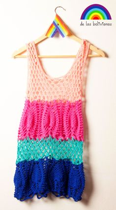 www.delasbolivianas.com  www.facebook.com/delasbolis  100% handmade. Argentina. Crochet Dress Girl, Baby Girl Crochet, Crochet Woman, Crochet Blouse, Crochet Yarn, Crochet Clothes, Knit Crochet, Poncho, Beautiful Crochet