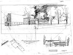 Viipuri Public Library The major technical innovation Aalto introduced at Viipuri was a mechanical ventilation system that provided . Alvar Aalto, Architecture Sketchbook, Architecture Design, Sketch Design, Design Art, Croquis Drawing, Architect Drawing, Famous Architects, House Drawing